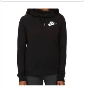 A black nike pull over hoodie